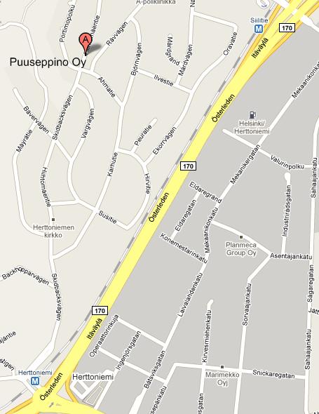 Puuseppino kartta kuva